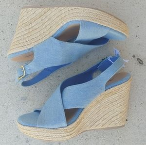 American Eagle Denim Wedges